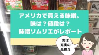 アメリカで買える味噌イメージ画像