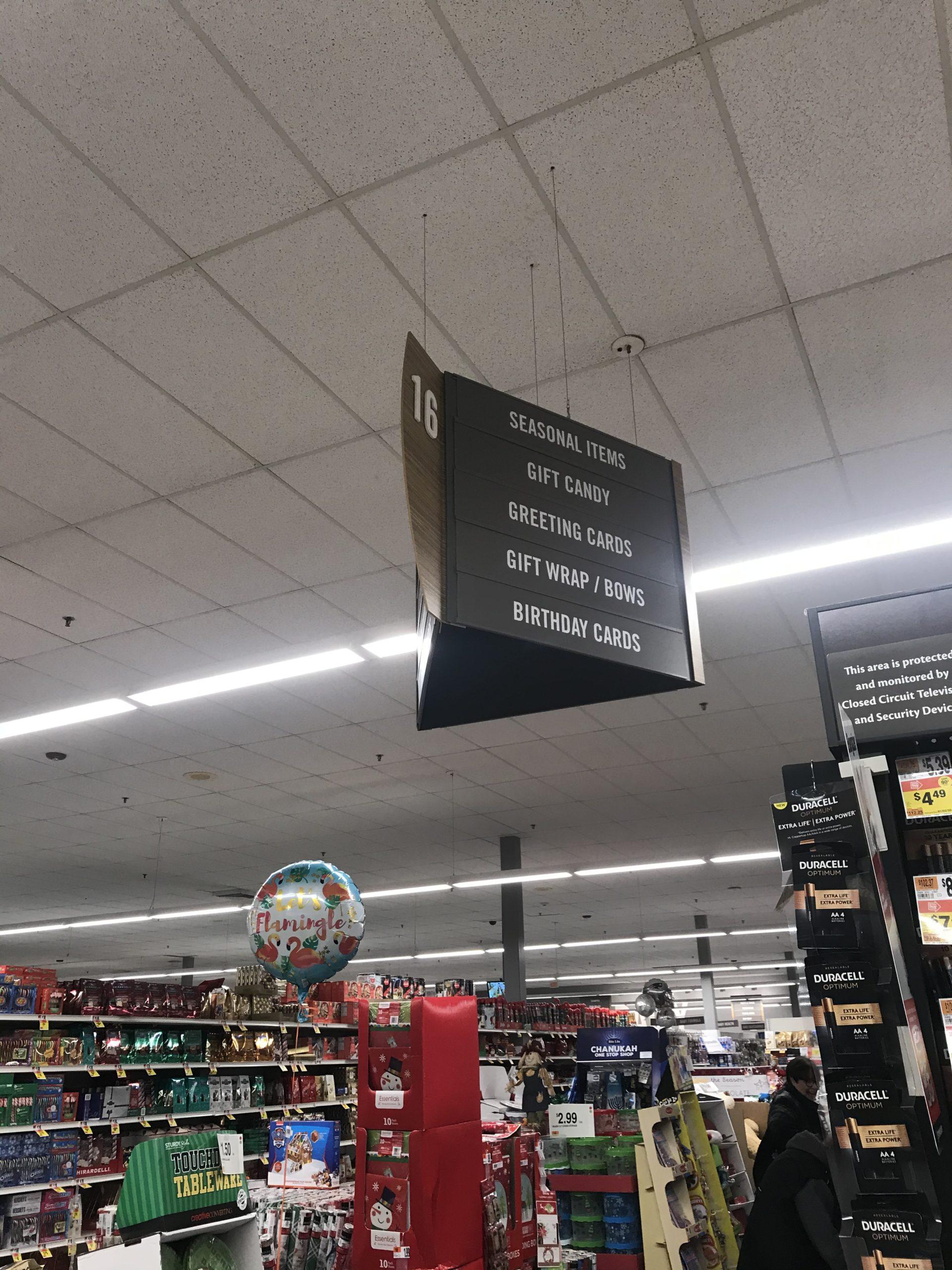 スーパー(Stop&Shop)のギフトコーナーの写真