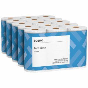 amazon solimo bath tissue写真
