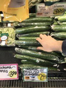 english cucumberの写真